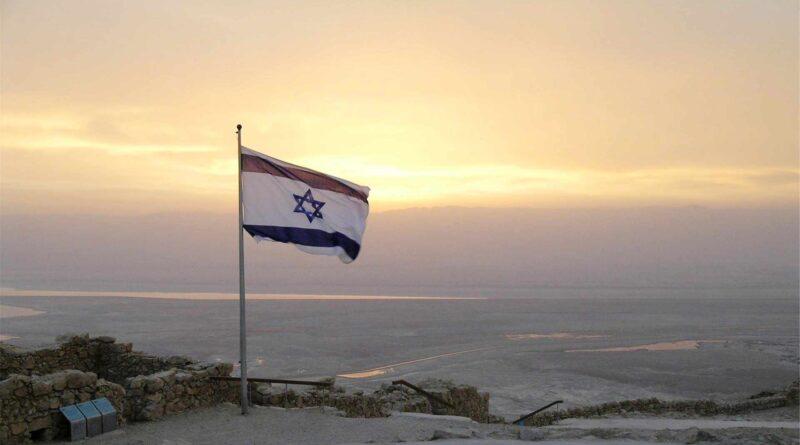 flaga Izraela na wietrze